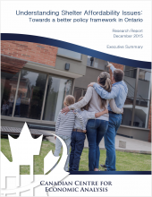 Understanding Shelter Affordability Issues: Towards a Better Policy Framework in Ontario